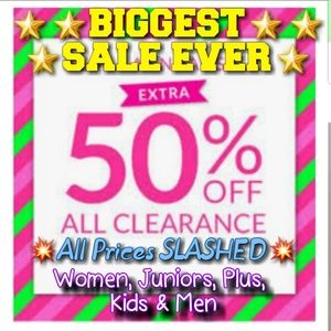 Other - XTRA 50% OFF ALL ITEMS💥💥STARTING @ $1🌟🌟🌟